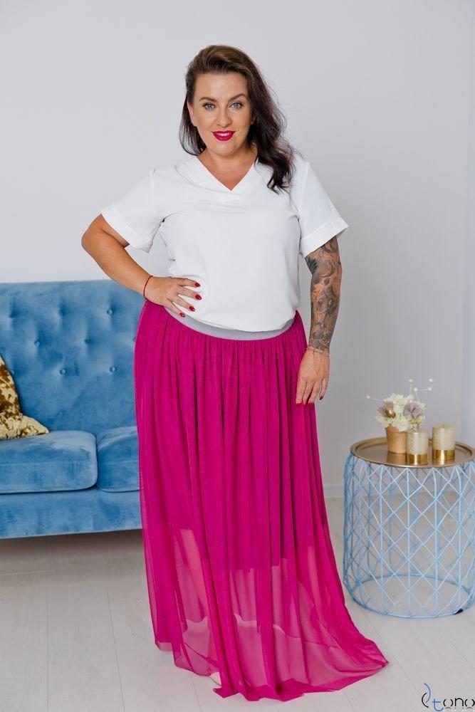 Amarantowa Spódnica VIMMI Plus Size