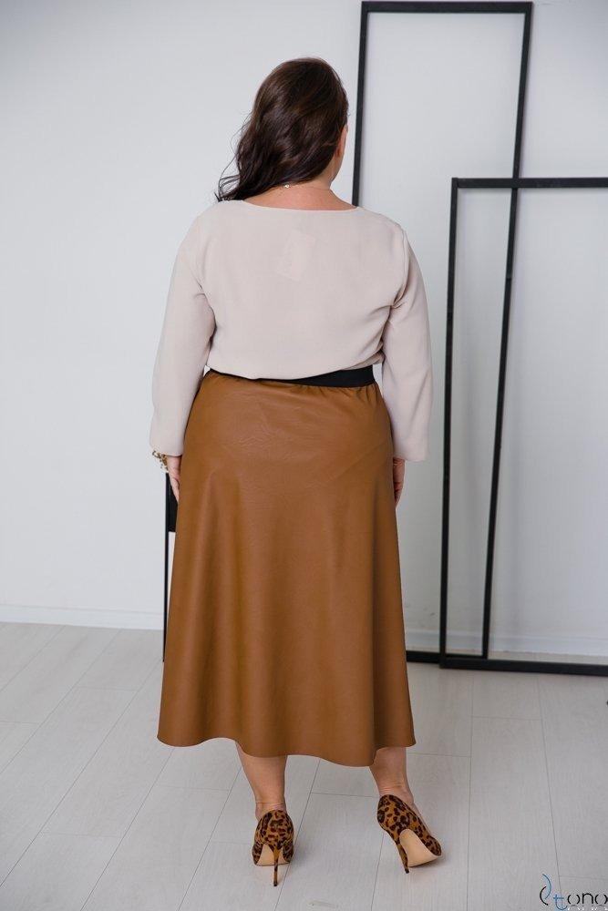 Beżowa Bluzka RAFAELA Plus Size