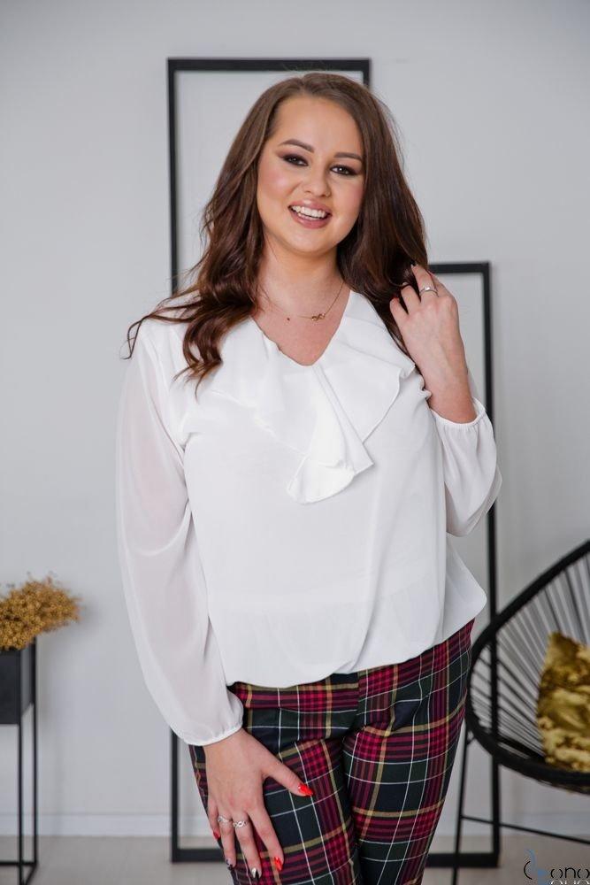 Biała Bluzka FONDATA Plus Size