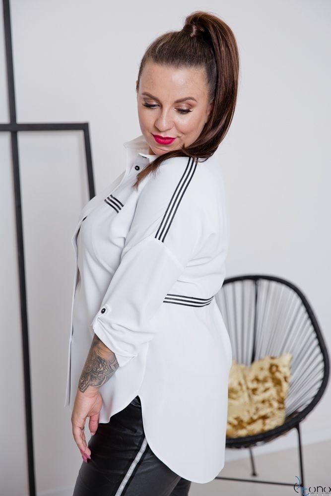 Biała Koszula ERINA Plus Size