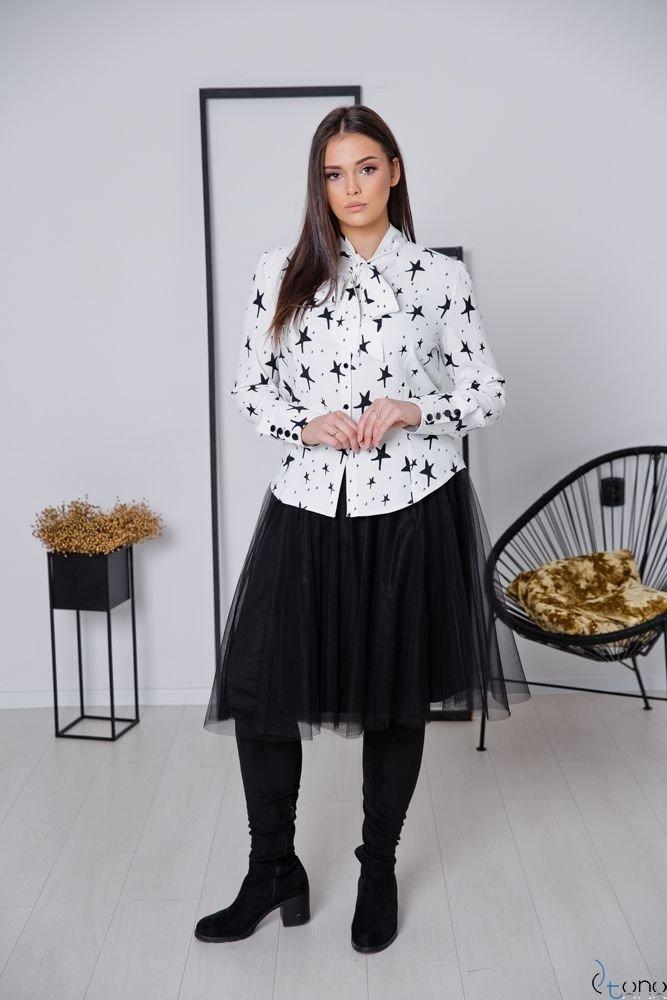 Biało-Czarna Bluzka FETTI Plus Size