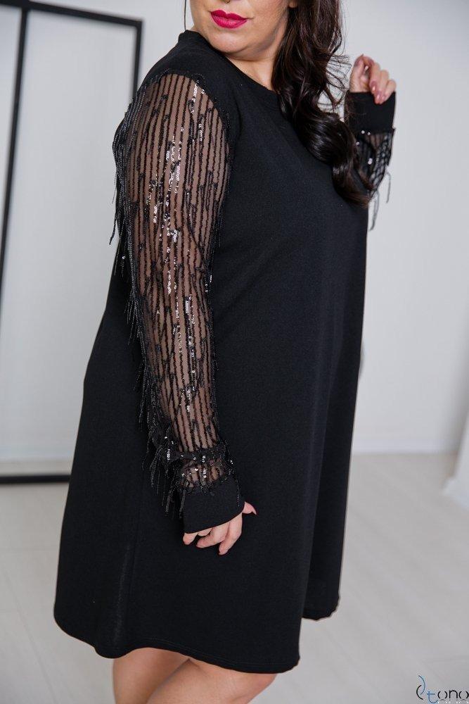 Czarna Sukienka CELEBRA Plus Size