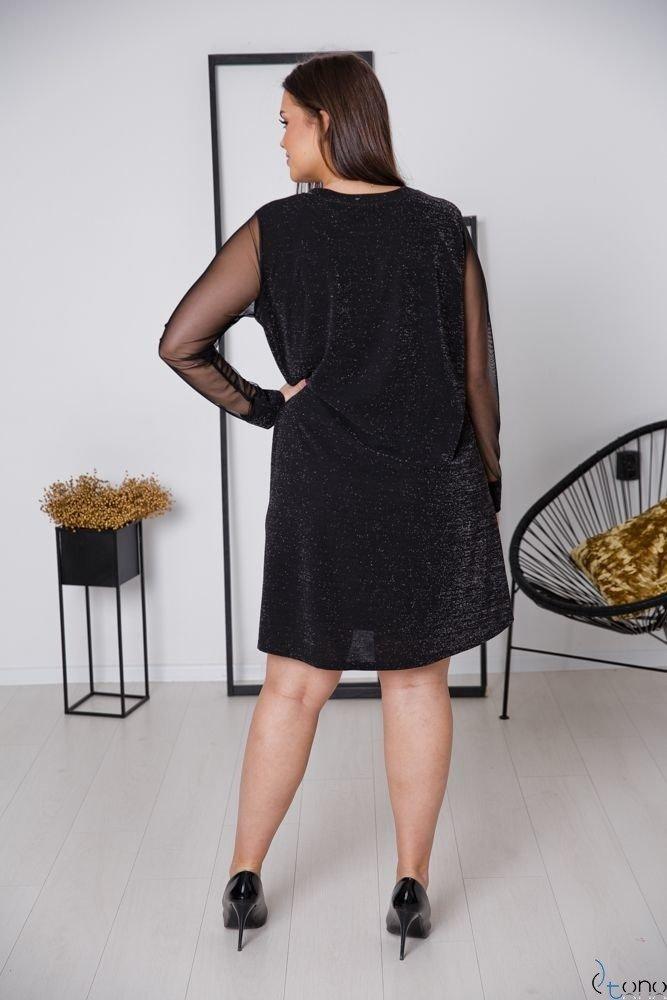 Czarna Sukienka LETICIA Plus Size