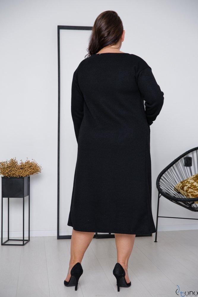 Czarna Sukienka SAVI Plus Size
