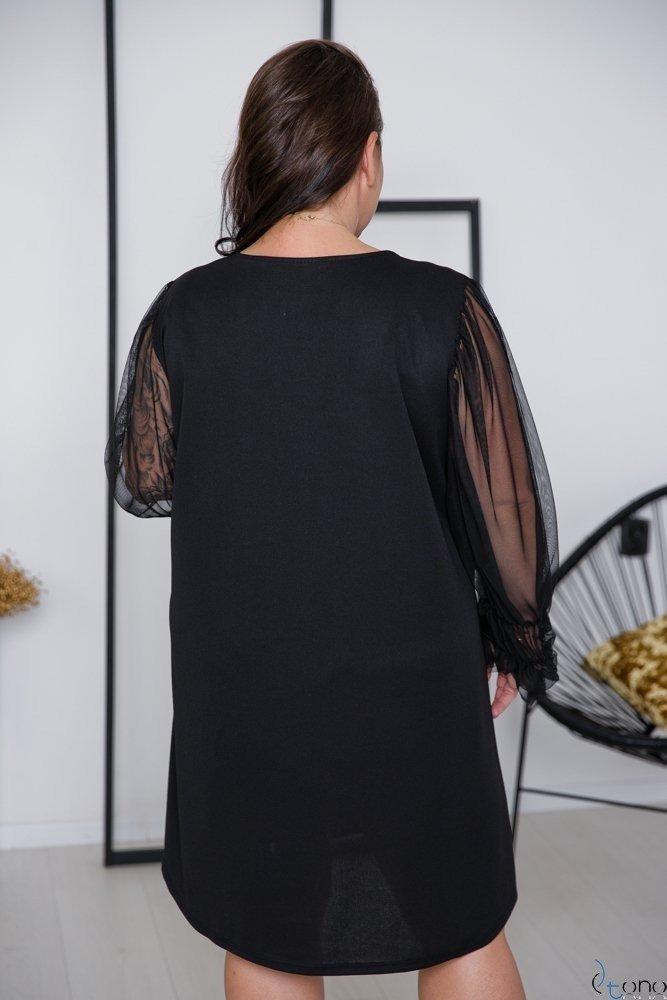 Czarna Sukienka SLICE Plus Size