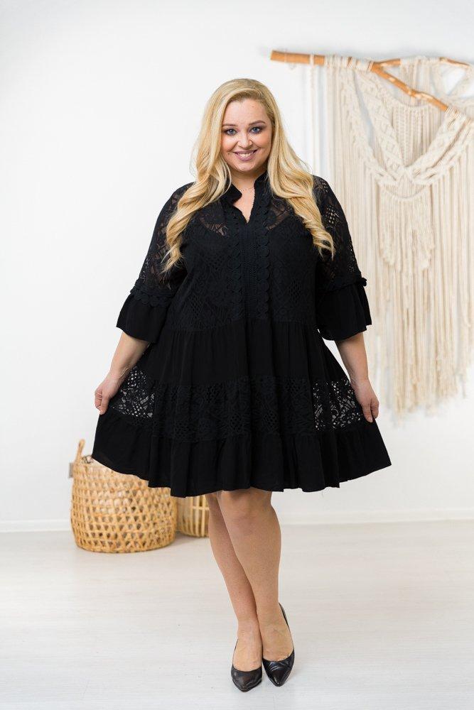 Czarna sukienka KODERA Plus Size