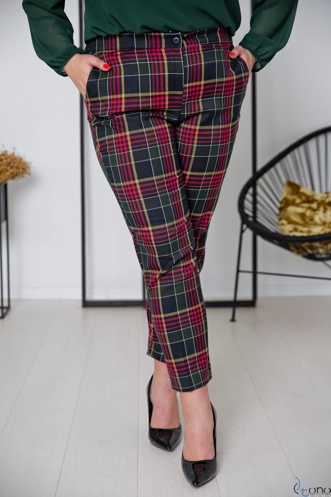 Czarne Spodnie SHILOW Plus Size Wzór 4