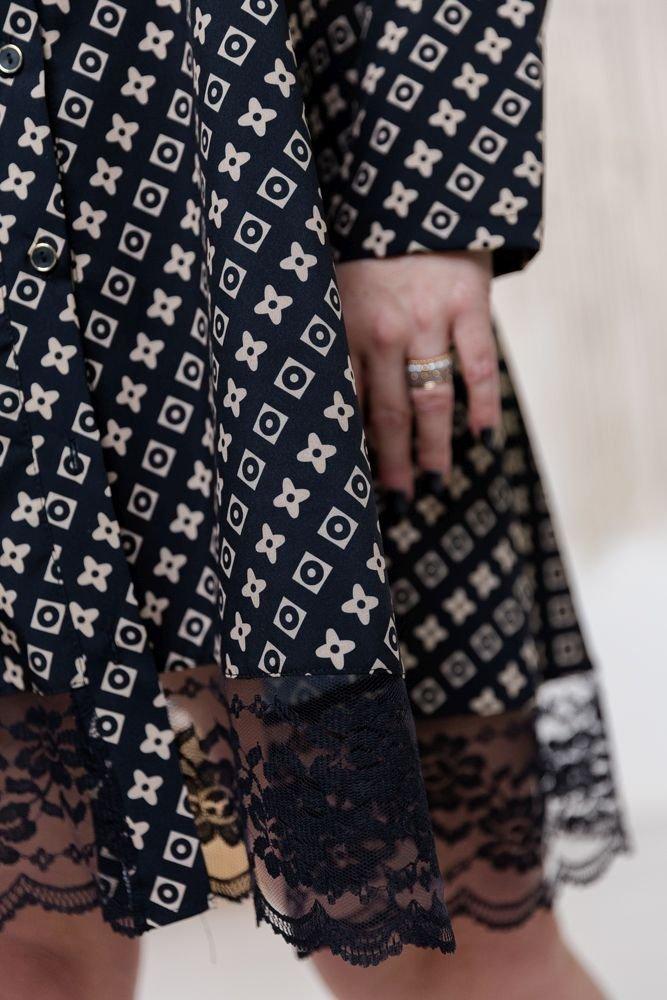 Czarno-beżowa Sukienka MATAHARI