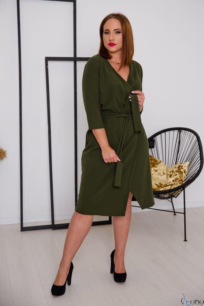 Khaki Sukienka MAVITA Plus Size