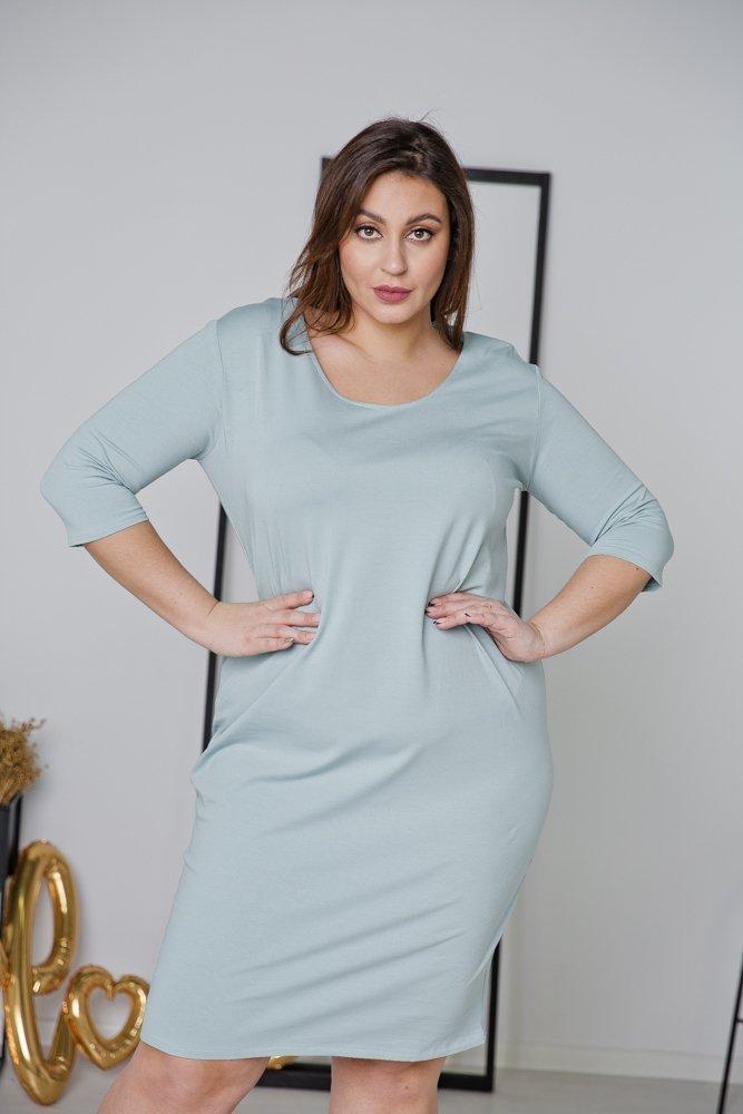 Niebieska Sukienka MISTRA Plus Size