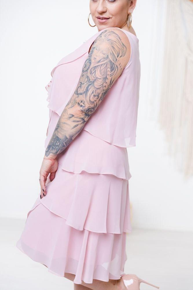 Pudrowo-różowa Sukienka SUZIE