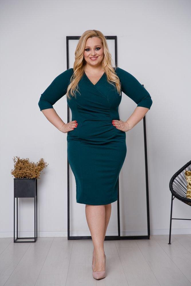 Zielona Sukienka DEFINA Plus Size
