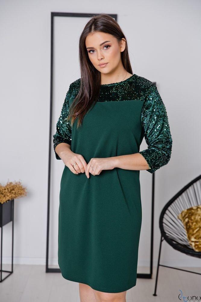 Zielona Sukienka SACRIMA Plus Size
