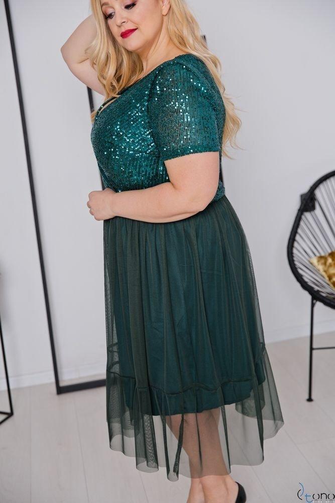 Zielona Sukienka VESTITA Plus Size