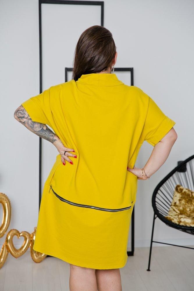 Żółta Sukienka ORDINA Plus Size