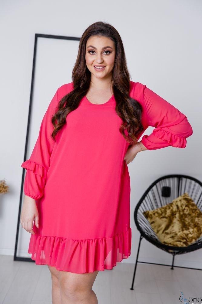 Amarantowa Sukienka CORTLAND Plus Size
