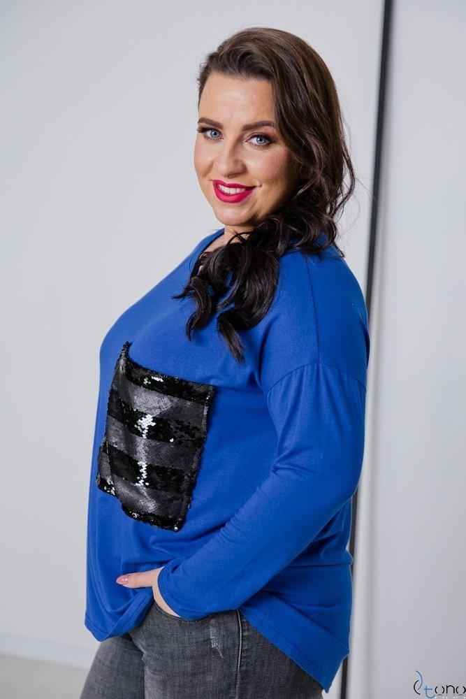 Chabrowa Bluzka POCKET Plus Size