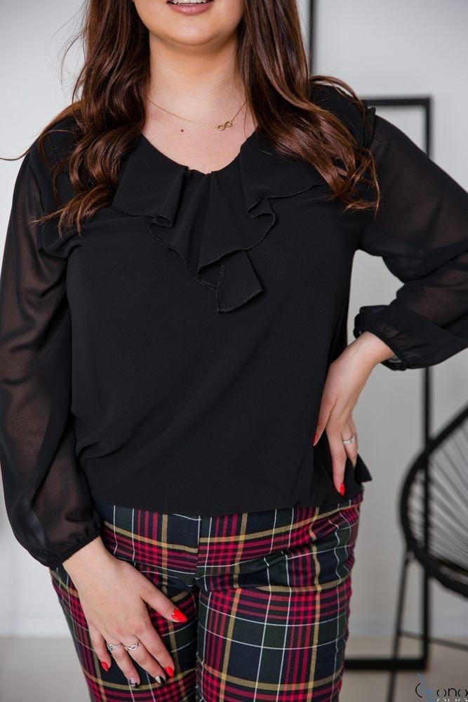 Czarna Bluzka FONDATA Plus Size