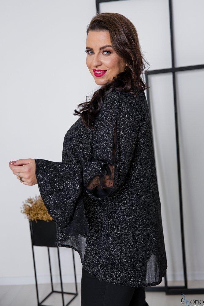 Czarna Bluzka MOKKIA Plus Size