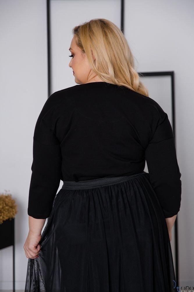 Czarna Bluzka WIKI Plus Size