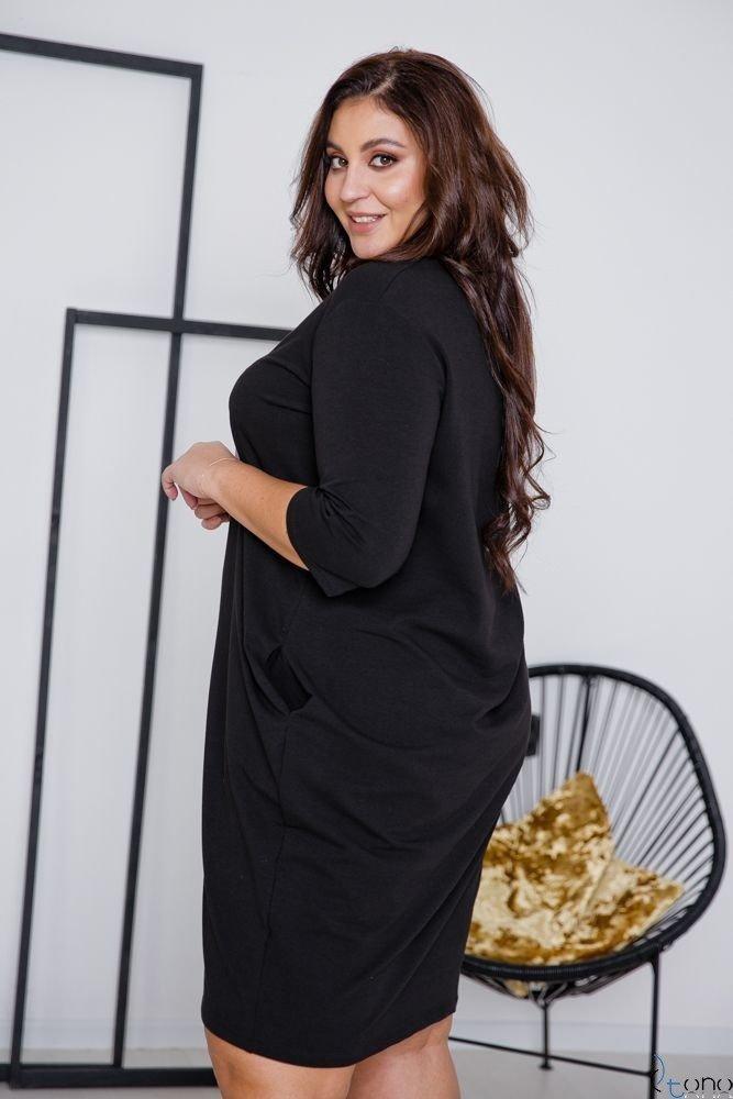 Czarna Sukienka ELIA Plus Size