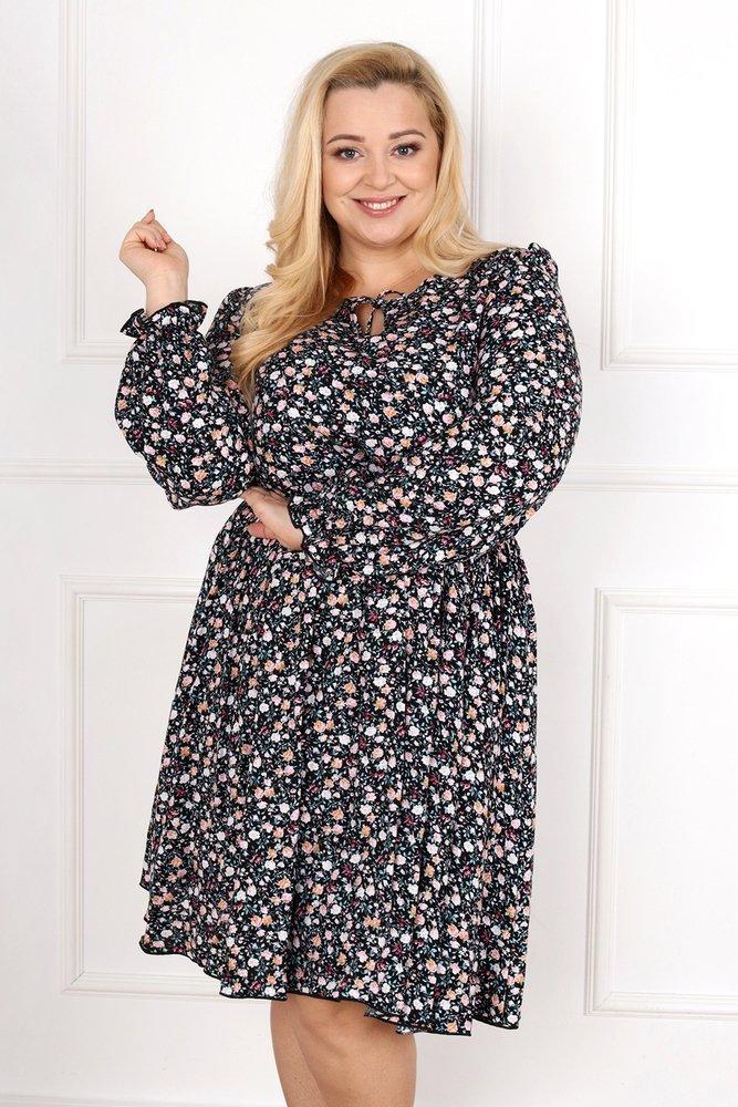 Czarna Sukienka LUKIA Plus Size