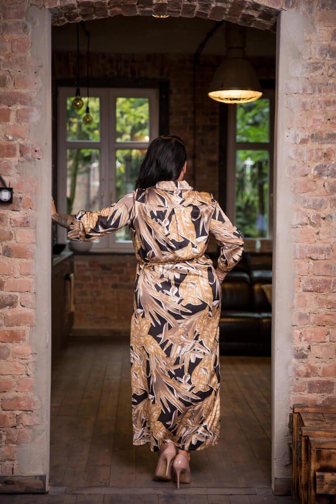 Czarno-Złota Sukienka  LEXIA Plus Size
