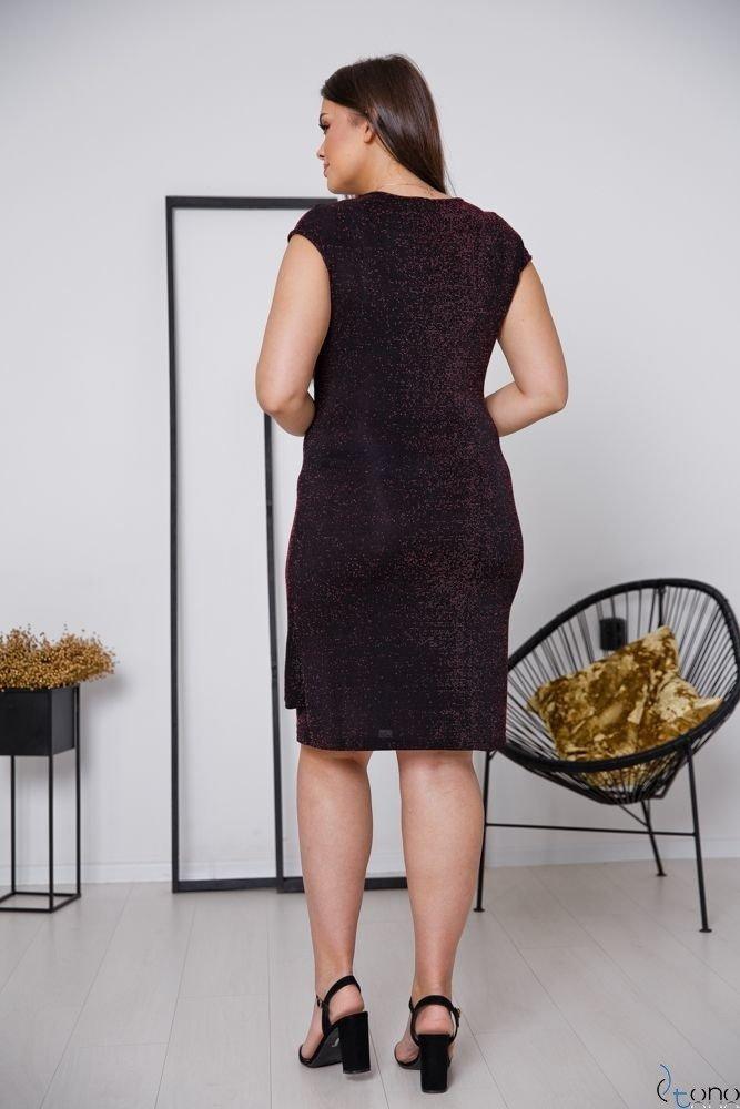 Czarno-czerwona Sukienka VENGA Plus Size