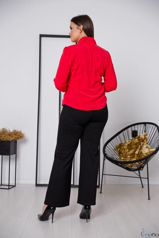 Czerwona Bluzka FETTI Plus Size