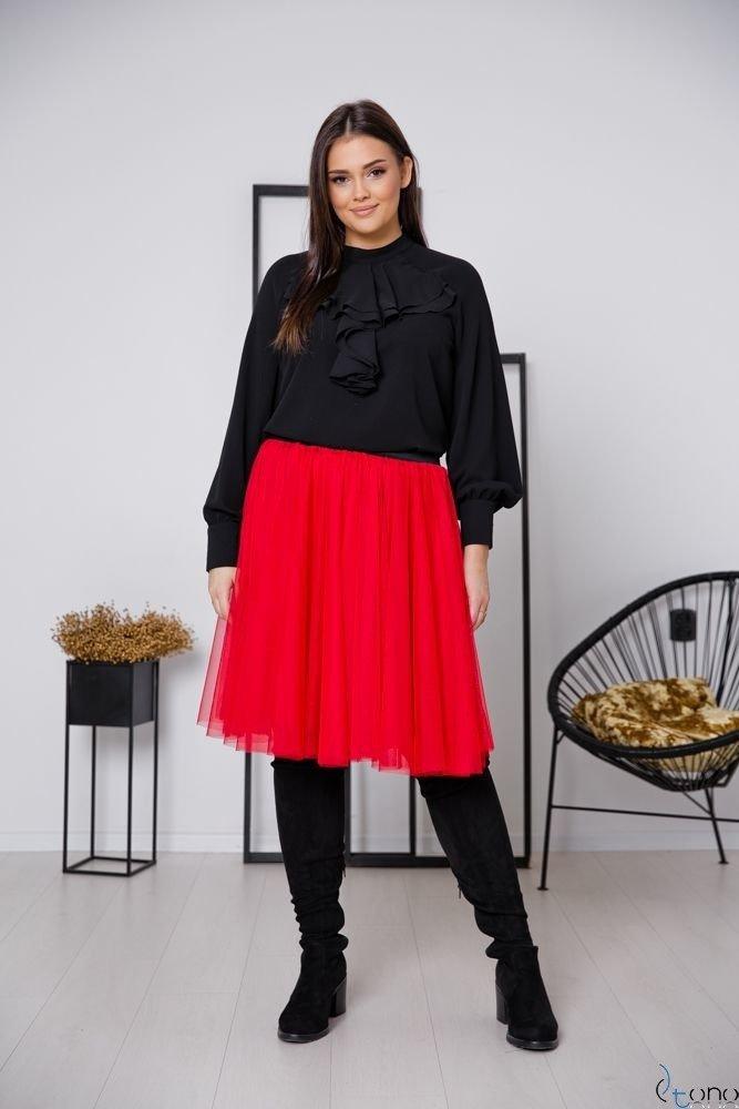 Czerwona Spódnica FERRY Plus Size
