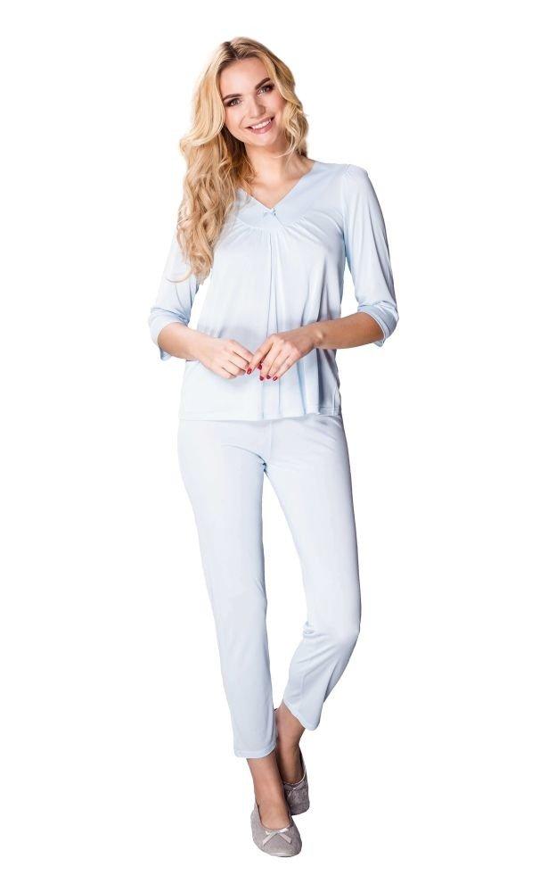 Niebieska Piżama CONSUELA Plus Size
