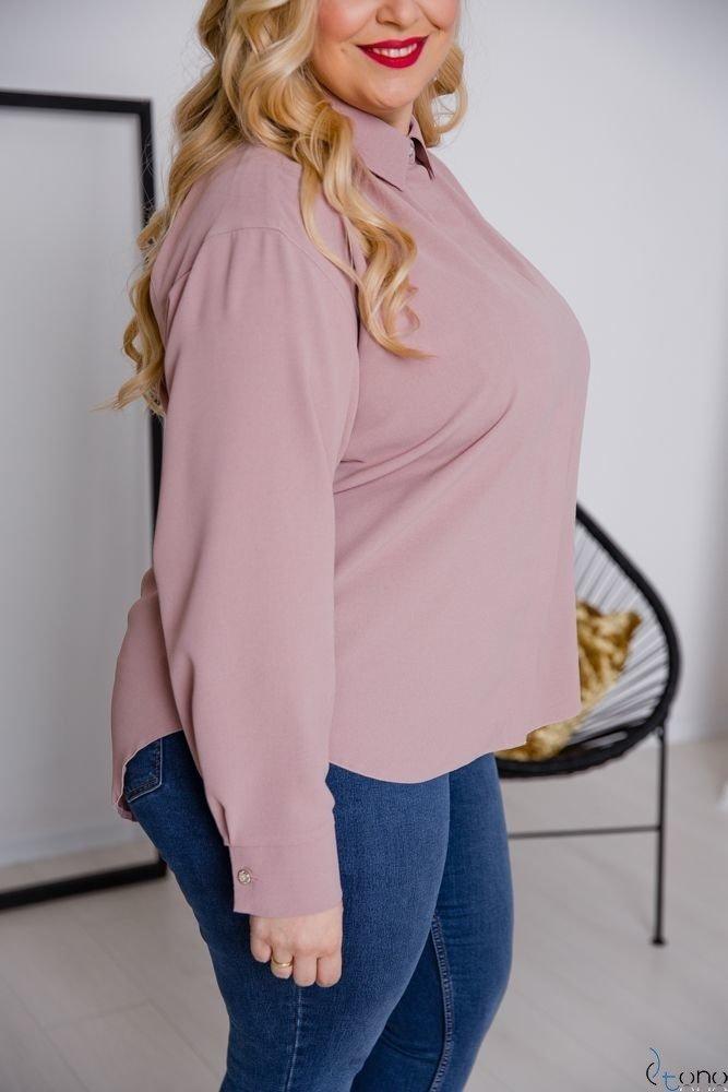 Różowa Koszula FILARES Plus Size