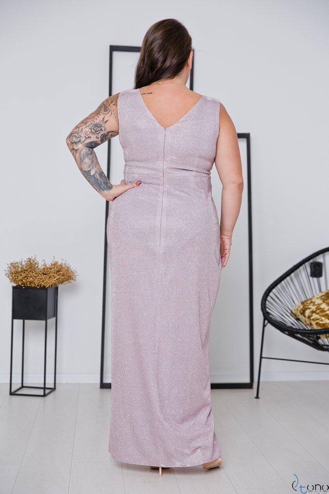 Różowa Sukienka FINESYA Plus Size