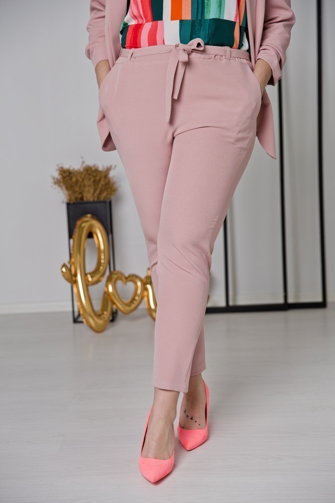 Różowy Garnitur MARLO Plus Size