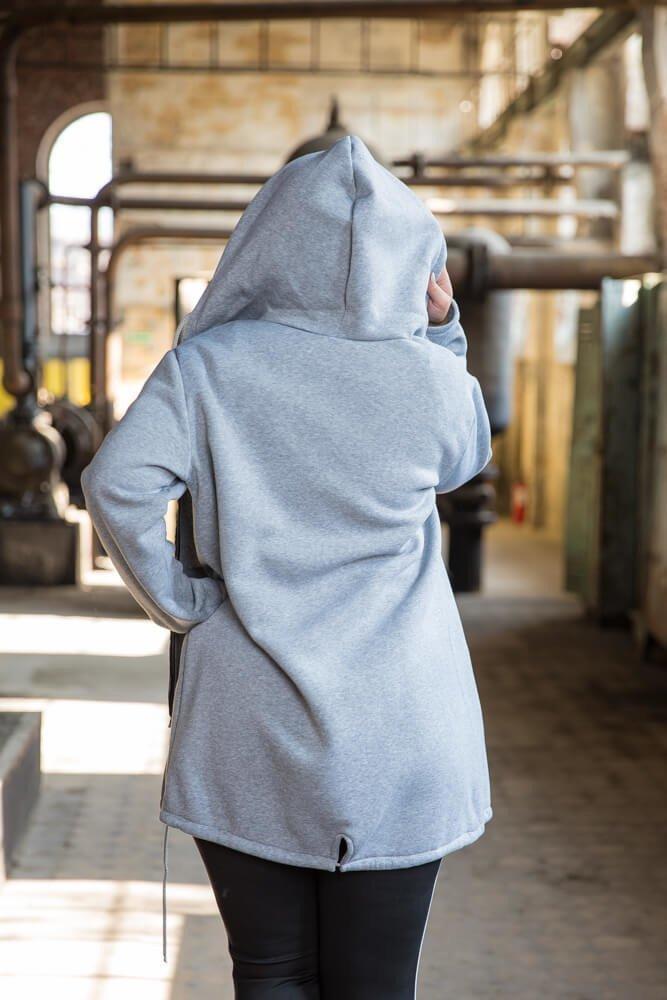 Szary Płaszcz FERTILLA Plus Size