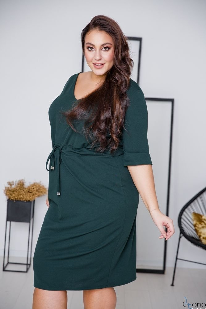 Zielona Sukienka ELMIRA Plus Size