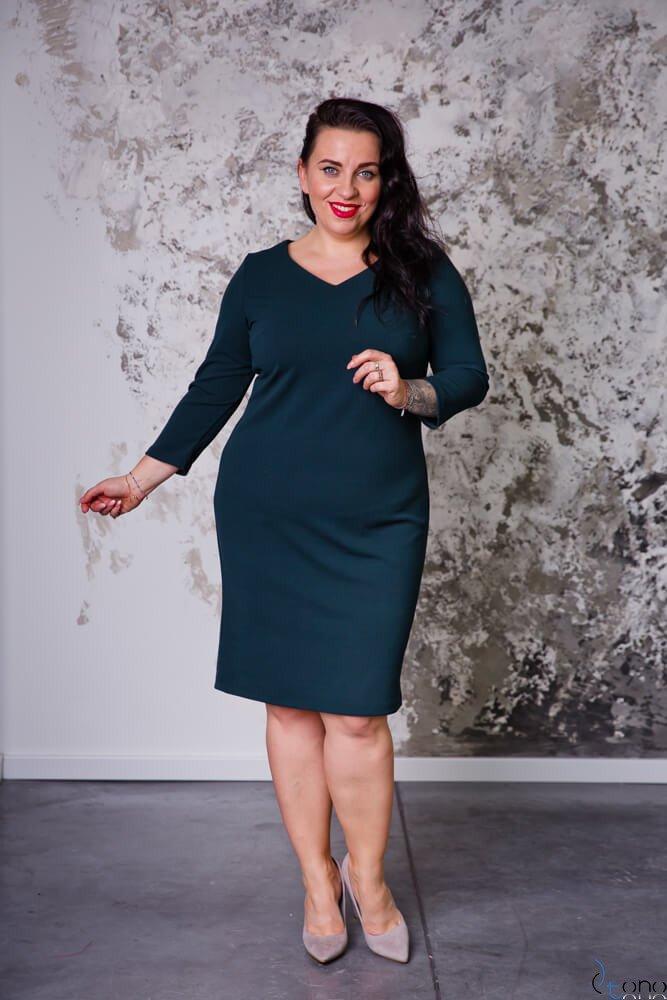 Zielona Sukienka EMYLY Plus Size